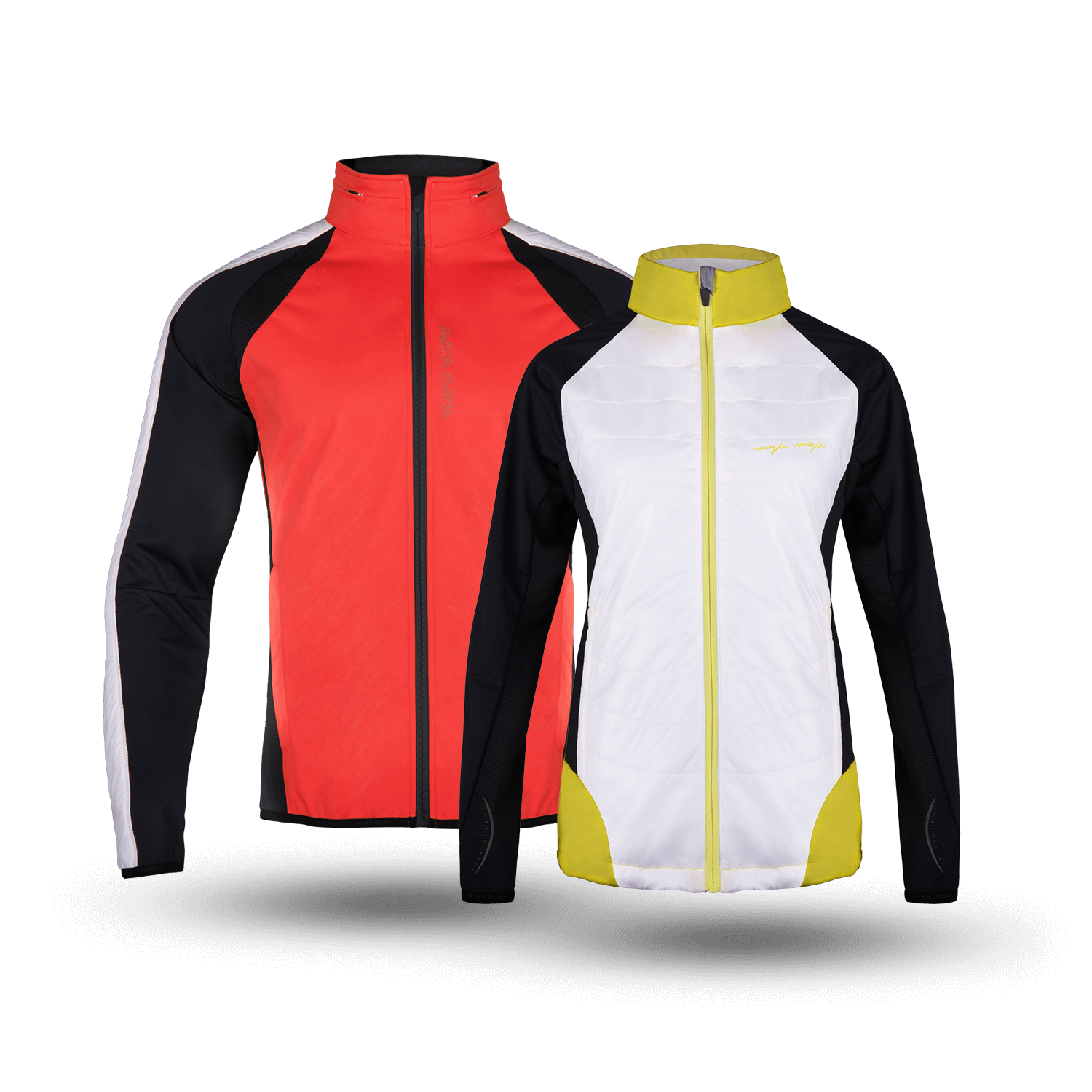 Men and woman breathable jackets for cross-country skiing by MAYA MAYA