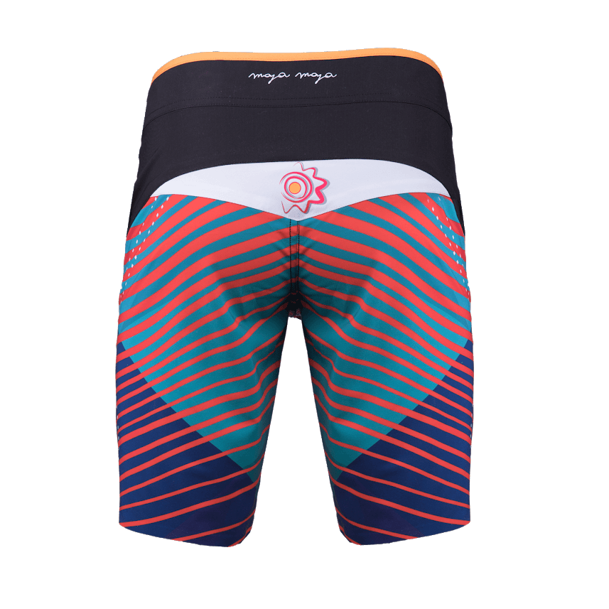 Kachina shorts orange back